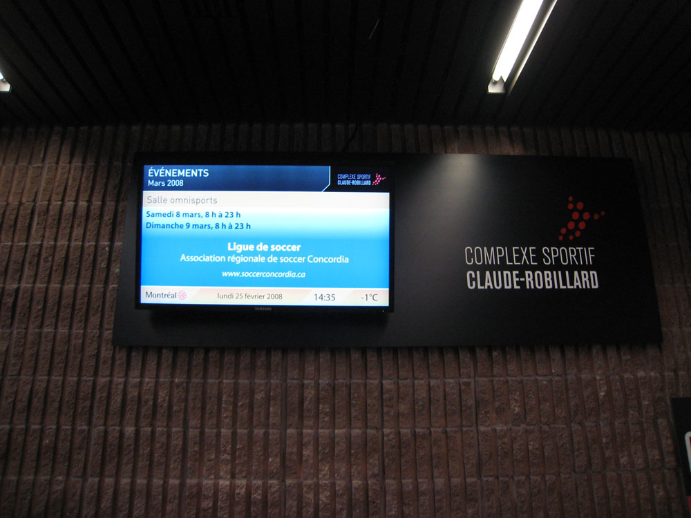 Digital signage blog by mirada media blog archive for Claude robillard piscine