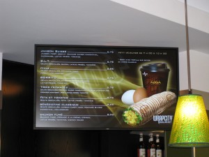 Digital menu board