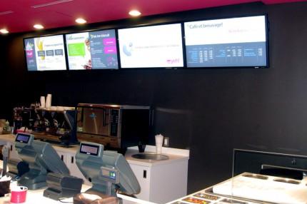 Panneau de menu numérique