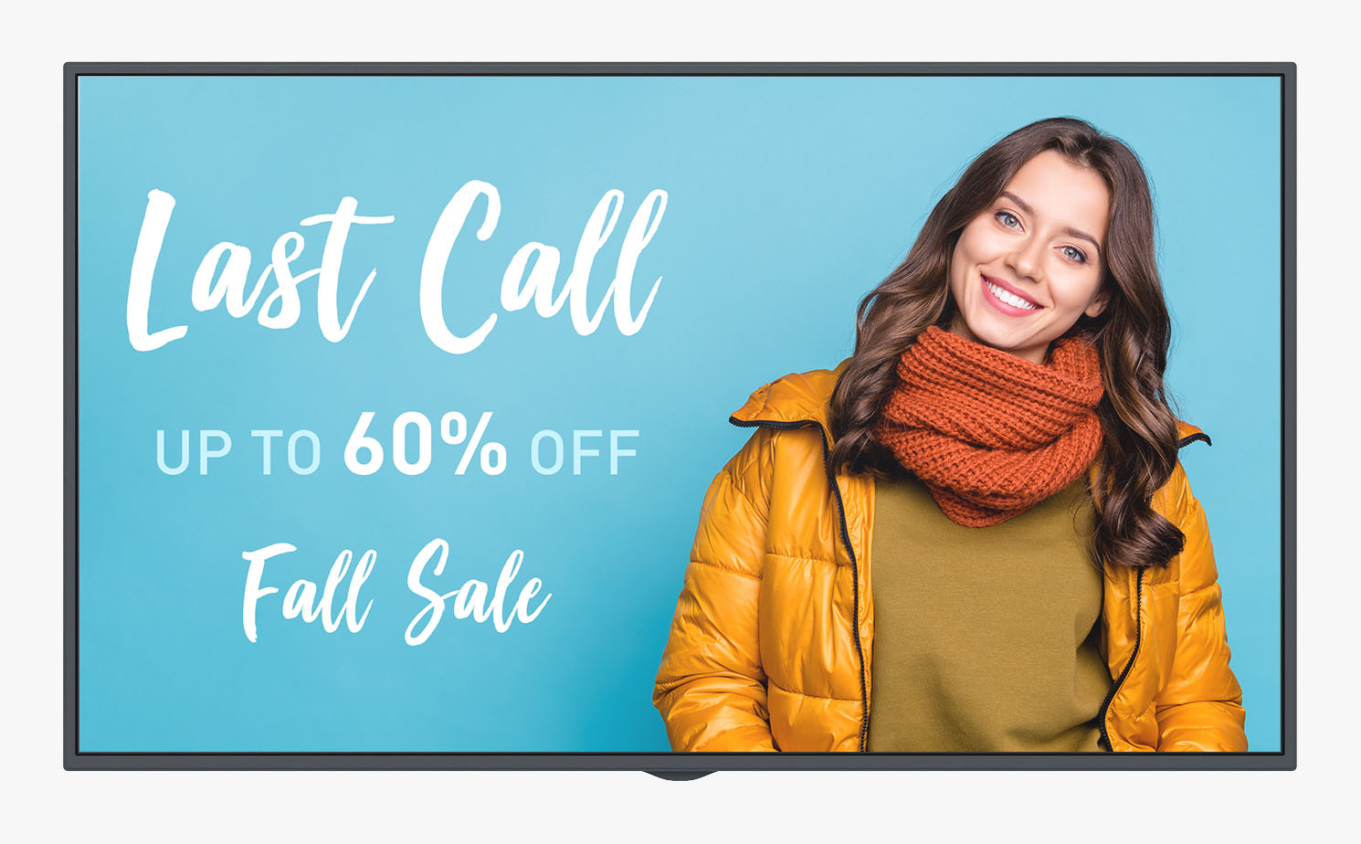 Last Call digital signage ad