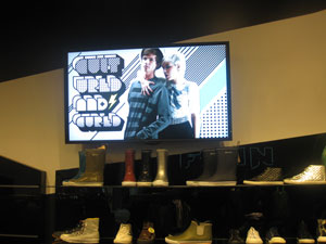 finn boutique lcd signage